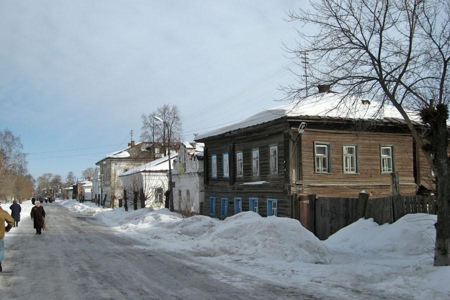 улица города юрьевец зимой