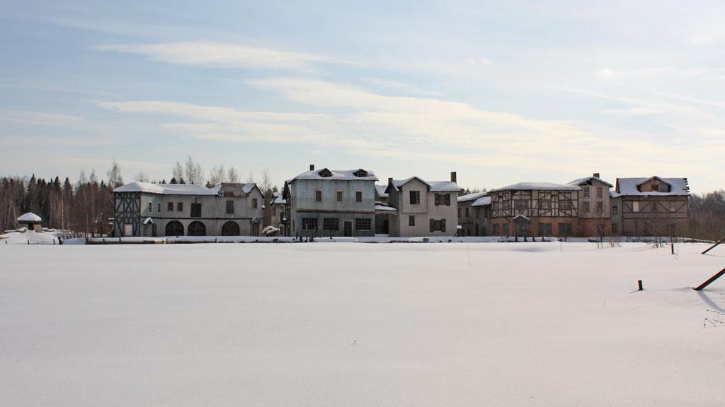 киногородок зимой